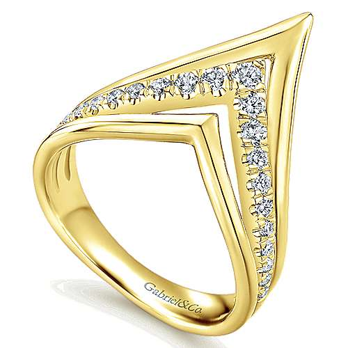 14k Yellow Gold Lusso Diamond Fashion Ladies