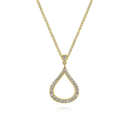 Gabriel - 14k Yellow Gold Lusso Diamond Fashion Necklace