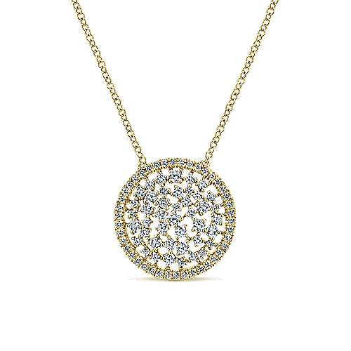 14k Yellow Gold Lusso Diamond Fashion Necklace angle 1