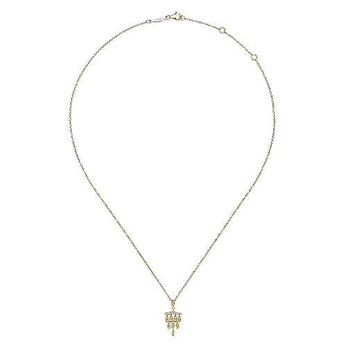 14k Yellow Gold Lusso Diamond Fashion Necklace angle 2