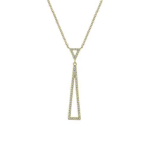 Gabriel - 14k Yellow Gold Lusso Diamond Fashion Necklace