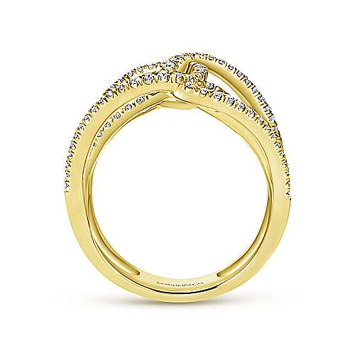 14k Yellow Gold Lusso Diamond Statement Ladies