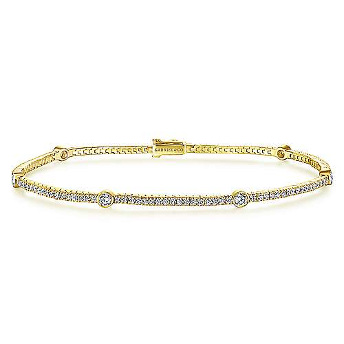Gabriel - 14k Yellow Gold Lusso Diamond Tennis Bracelet