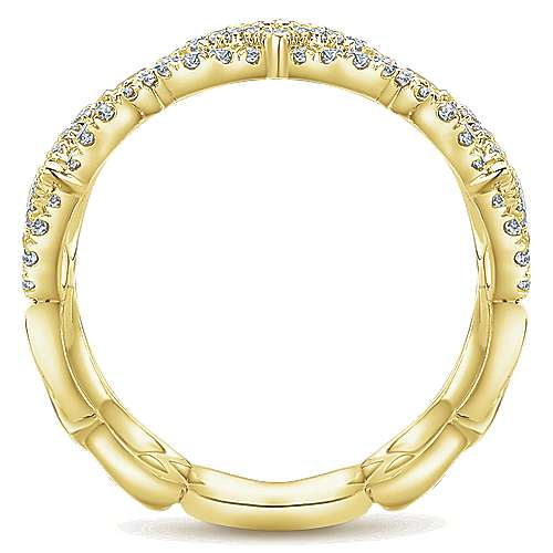 14k Yellow Gold Lusso Diamond Wide Band Ladies