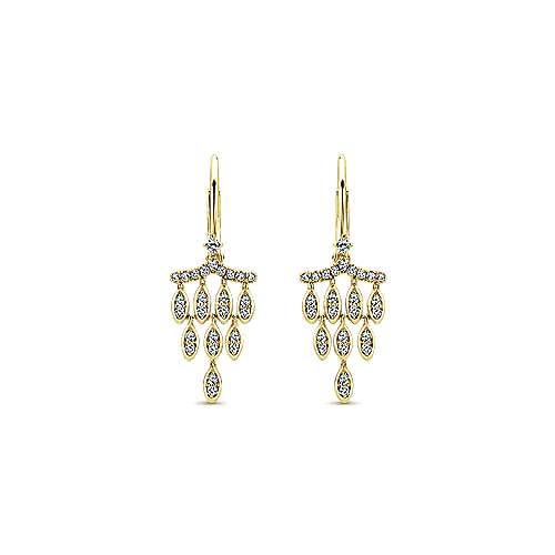 Gabriel - 14k Yellow Gold Lusso Drop Earrings