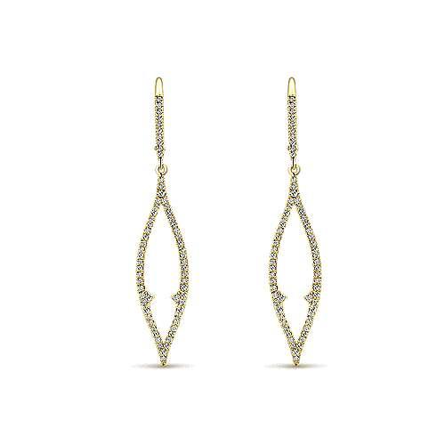 14k Yellow Gold Lusso Drop Earrings angle 1