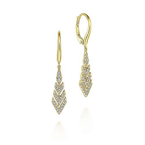 Gabriel - 14k Yellow Gold Lusso Drop Earrings
