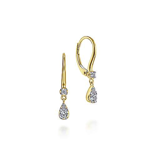 14k Yellow Gold Lusso Drop Earrings