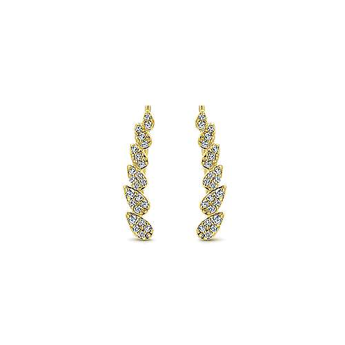 14k Yellow Gold Lusso Ear Climber Earrings angle 1
