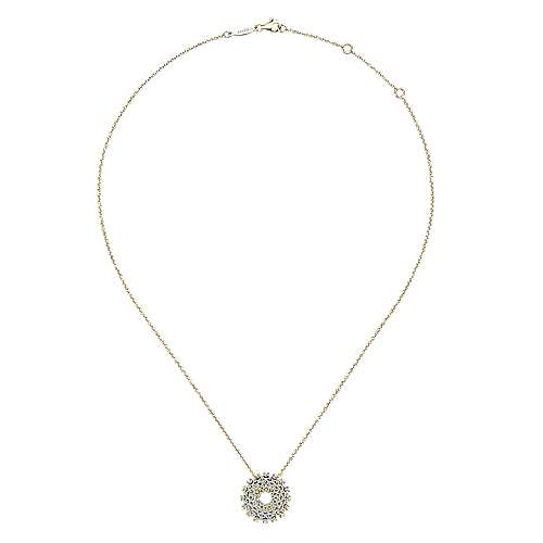 14k Yellow Gold Lusso Fashion Necklace angle 2