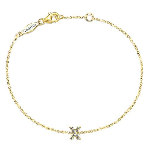 14k Yellow Gold Lusso Initial Bracelet
