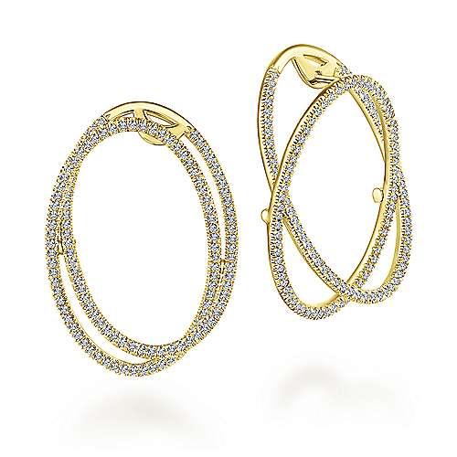 Gabriel - 14k Yellow Gold Lusso Intricate Hoop Earrings