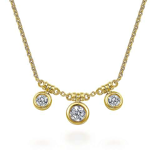 14k Yellow Gold Lusso Station Necklace
