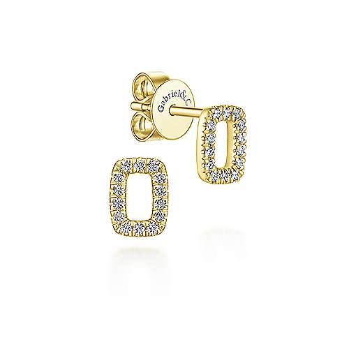 14k Yellow Gold Lusso Stud Earrings