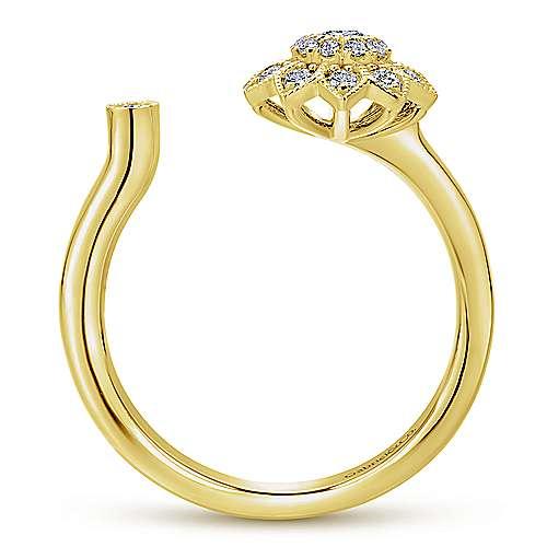 14k Yellow Gold Messier Fashion Ladies' Ring angle 2