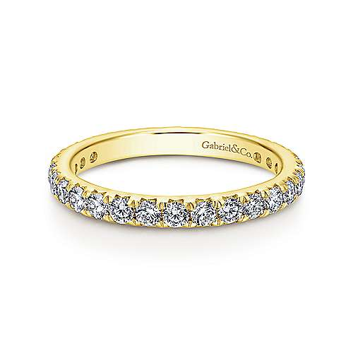 Gabriel - 14k Yellow Gold Micro Pavé Eternity Band