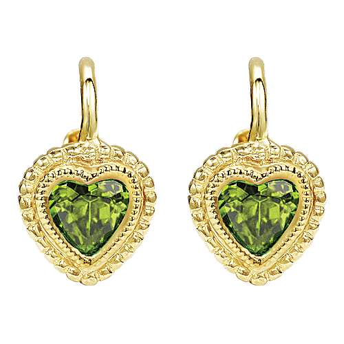 Gabriel - 14k Yellow Gold Secret Garden Drop Earrings