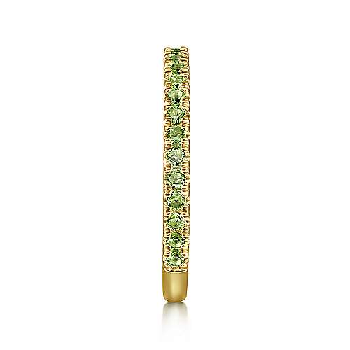 14k Yellow Gold Peridot Stackable Ladies