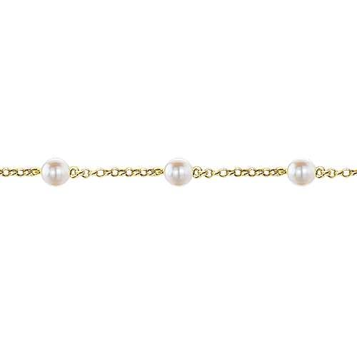 14k Yellow Gold Secret Garden Chain Bracelet angle 2