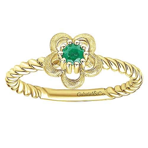 14k Yellow Gold Secret Garden Fashion Ladies' Ring angle 4
