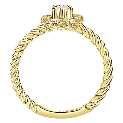 14k Yellow Gold Secret Garden Fashion Ladies' Ring angle 2