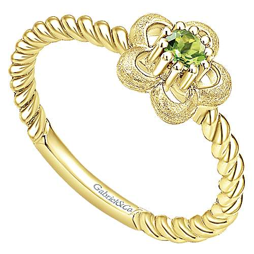 14k Yellow Gold Secret Garden Fashion Ladies' Ring angle 3