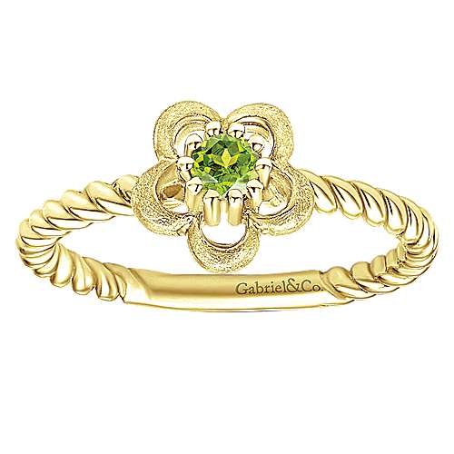 14k Yellow Gold Secret Garden Fashion Ladies' Ring angle 4