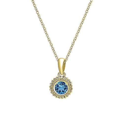 Gabriel - 14k Yellow Gold Secret Garden Fashion Necklace