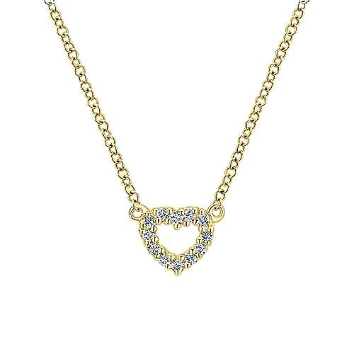 Gabriel - 14k Yellow Gold Secret Garden Heart Necklace