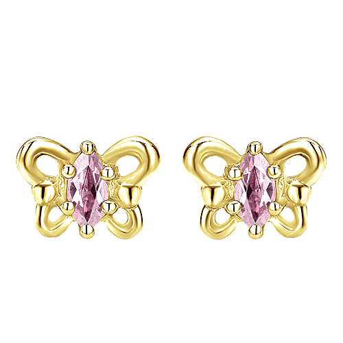 Gabriel - 14k Yellow Gold Secret Garden Stud Earrings