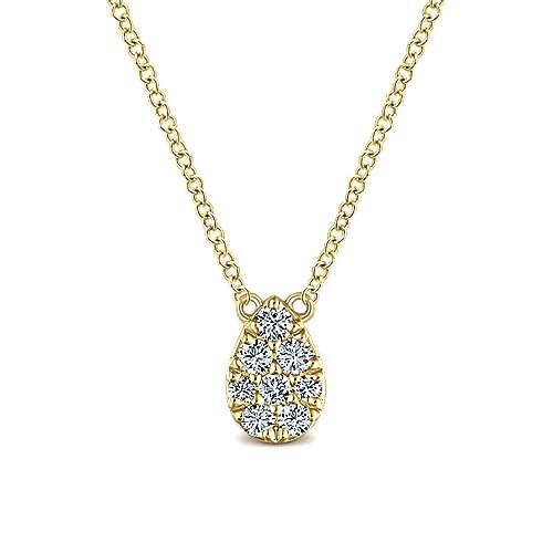 14k Yellow Gold Silk Fashion Necklace