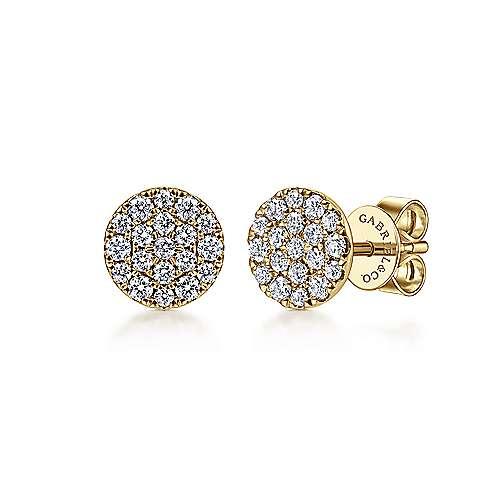 14k Yellow Gold Silk Stud Earrings