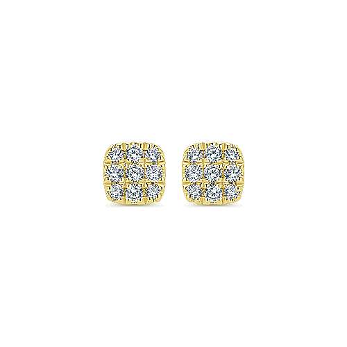 Gabriel - 14k Yellow Gold Silk Stud Earrings
