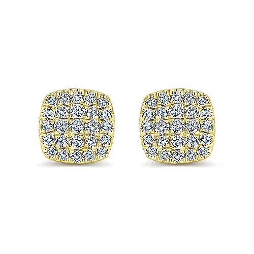14k Yellow Gold Silk Stud Earrings
