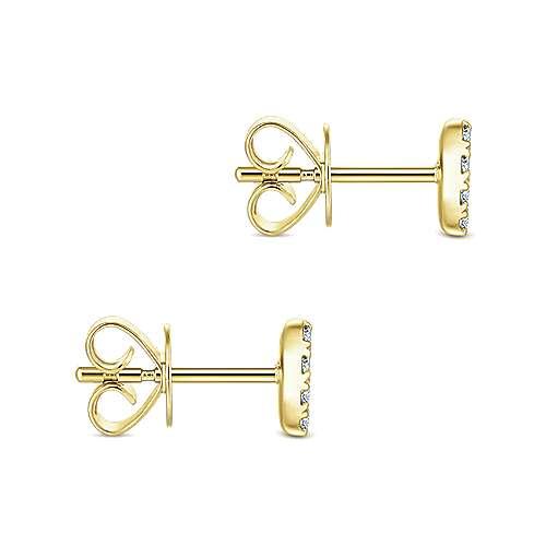 14k Yellow Gold Silk Stud Earrings angle 3