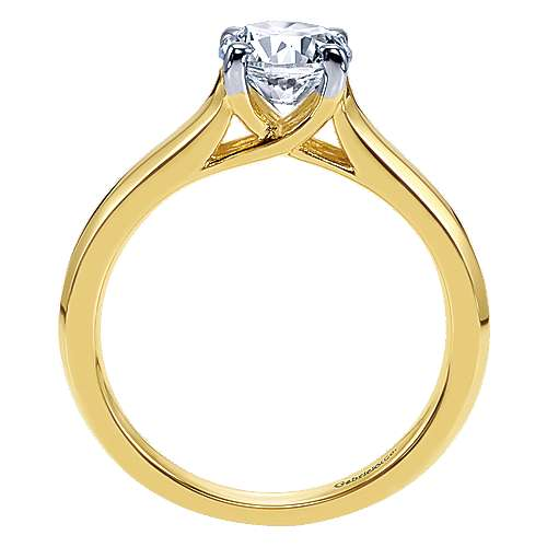 14k Yellow Gold Solitaire Engagement Ring angle 2