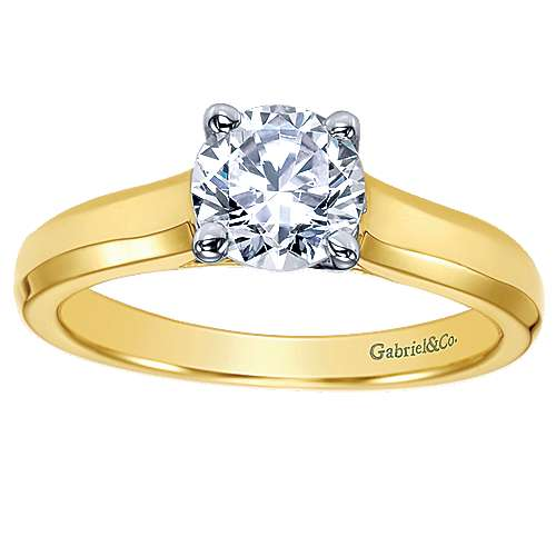 14k Yellow Gold Solitaire Engagement Ring angle 5