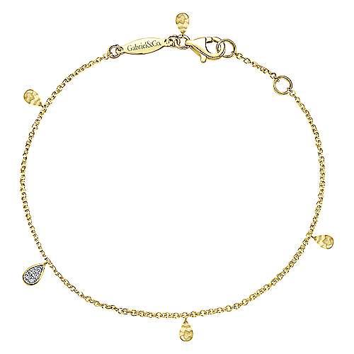 14k Yellow Gold Souviens Chain Bracelet