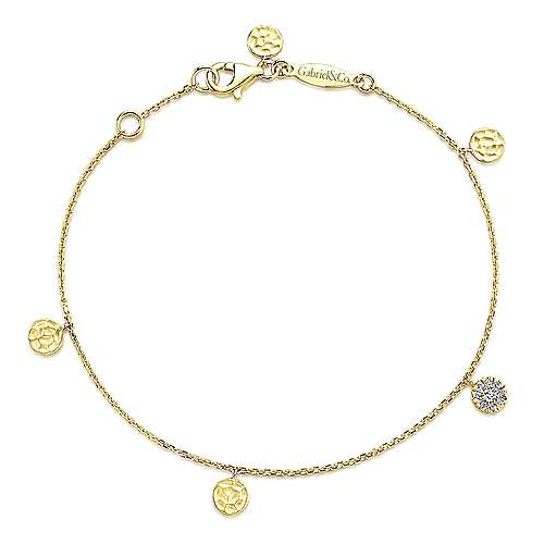 14k Yellow Gold Souviens Chain Bracelet angle 1
