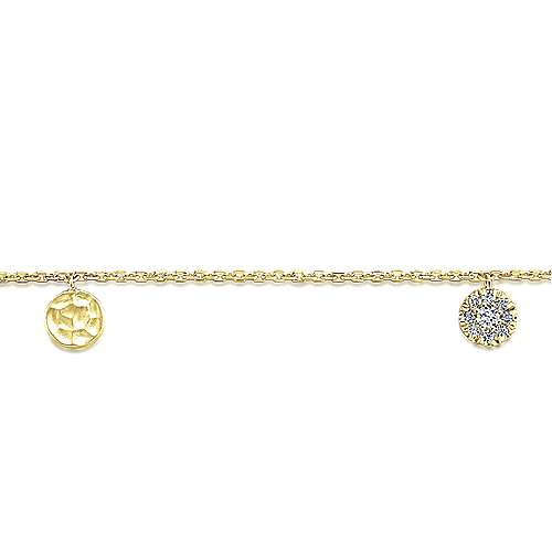 14k Yellow Gold Souviens Chain Bracelet angle 2