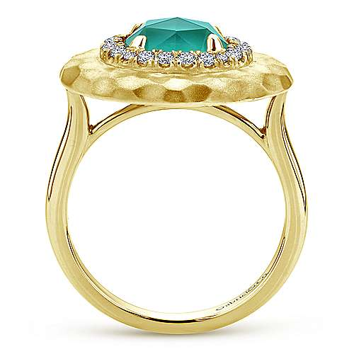 14k Yellow Gold Souviens Classic Ladies' Ring angle 2