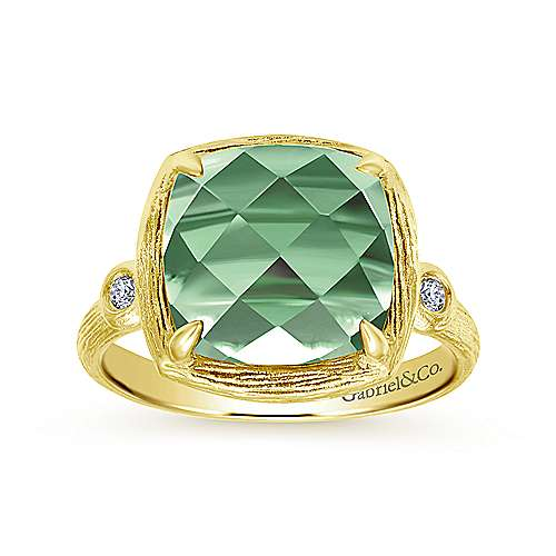 14k Yellow Gold Souviens Classic Ladies' Ring angle 4
