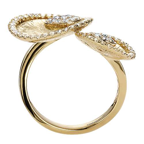 14k Yellow Gold Souviens Fashion Ladies' Ring angle 2