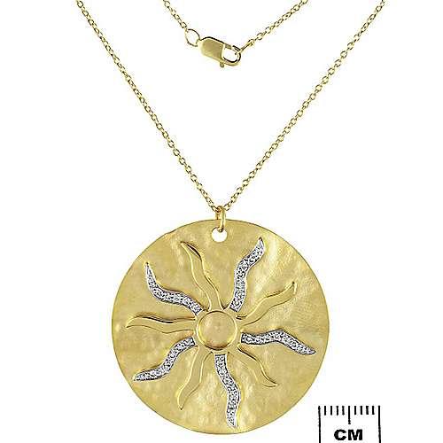 Gabriel - 14k Yellow Gold Souviens Fashion Necklace