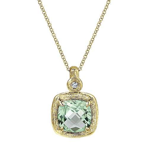 14k Yellow Gold Souviens Fashion Necklace angle 1