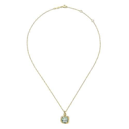 14k Yellow Gold Souviens Fashion Necklace angle 2