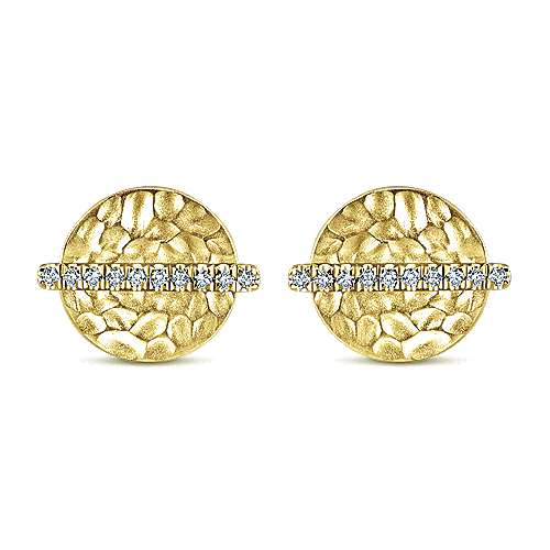 Gabriel - 14k Yellow Gold Souviens Stud Earrings