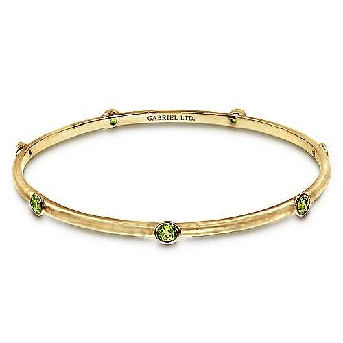 Gabriel - 14k Yellow Gold Stackable Bangle