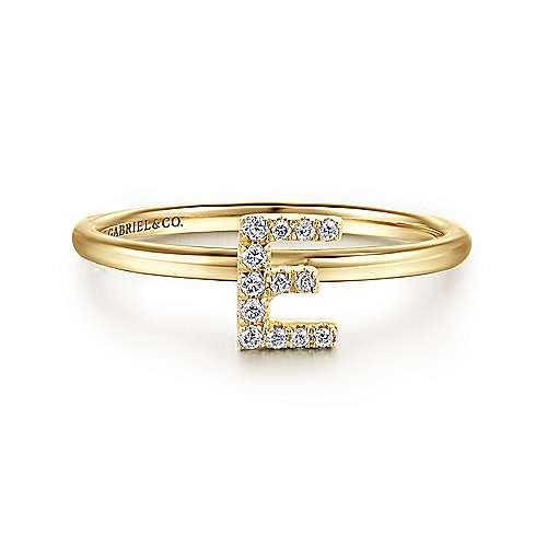 Gabriel - 14k Yellow Gold Stackable Eternity Ladies' Ring