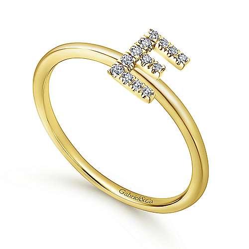 14k Yellow Gold Stackable Eternity Ladies